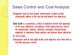 Sales Analysis Sales Cost Control Sales Control Management