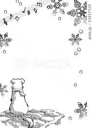 冬の季節のはがきテンプレートのイラスト素材 33937520 Pixta