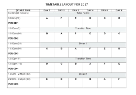 Class Timetable Template Amazing Timetable Template For High School Usgenerators