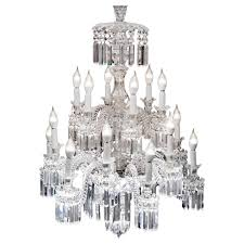 important crystal chandelier of baccarat france 1850s for