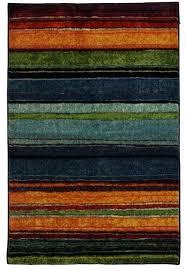 mohawk rainbow rug rainbow area rug rectangle blue gray orange mohawk new wave rainbow rug 8x10