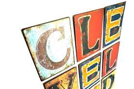 vintage metal letters for wall big large enchanting decor