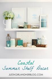 coastal summer shelf decor shelf