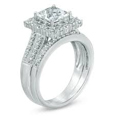 6 0mm Princess Cut Lab Created White Sapphire Fashion Ring Set In Sterling Silver Size 7