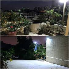 outdoor rope lights backyards superb backyard flood how to install fascinating led solar motion sensor