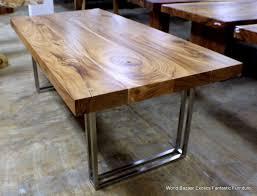 metal and wood furniture design chrome metal legs design