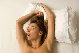 Woman moaning in pleasure