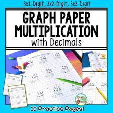 Multiplying Decimals With Multi Digit Multiplication On Graph Paper