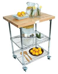 china 3 tiers metal kitchen trolley cart with bamboo board tr603590a3c china kitchen trolley kitchen cart