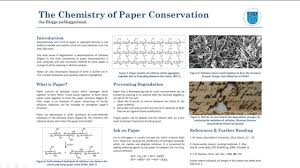 preparing posters in chemistry