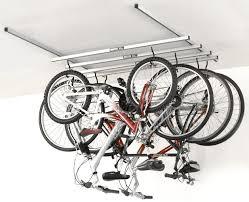 CycleGlide 4-Bike Ceiling Mount Storage Rack