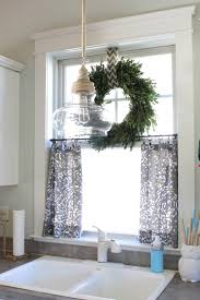 Diy No Sew Curtains No Sew Cafe Curtains Day 22 Simple Stylings