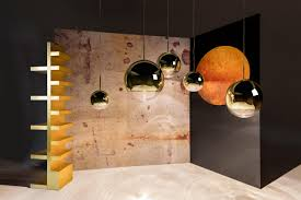 mirror ball pendant gold 25cm by tom dixon