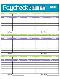 Free Printable Monthly Budget Blank Personal Budget Template Free Printable Excel Planner