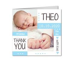 Baby Boy Thank You Cards Pretty Baby Boy Baby Thank You Cards Planet Cards Co Uk
