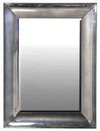 heavy glass framed mirror