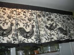 Rooster Kitchen Curtains Curtain Fabric Ideas For Living Room In And White Rooster Kitchen