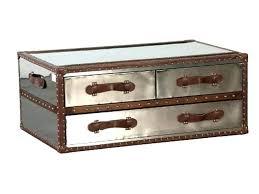 silver trunk coffee table silver trunk coffee table aluminum trunk coffee table throughout silver trunk coffee