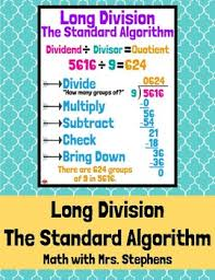 long division anchor chart long division with the standard algorithm anchor chart