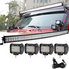 52 Inch Light Bar For Jeep 52inch 700w Led Light Bar Curved 144w Quad Row Pods Wiring