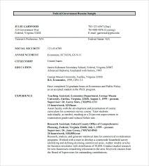 Sample Usajobs Resume Federal Government Resume Free Download Sample