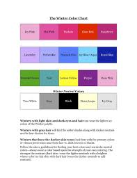 Seasonal Color Chart Your Seasonal Color Winter Chart Navy Blue Should Be On