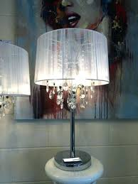 lamp crystal desk lamp shabby chic white thread table chandelier vintage lamps target