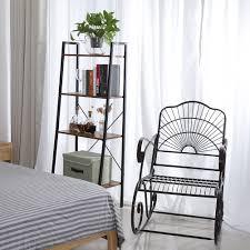 Details About 4 Tier Mdf Ladder Shelf Display Stand Unit Home Plant Flower Book Shelves