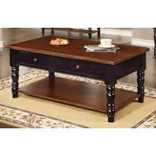 cherry coffee table. Chelsea Home Brockton Coffee Table In Black And Cherry Finish