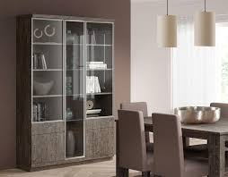 baixmoduls 3 door contemporary display cabinet with glass