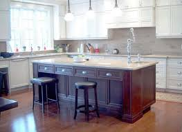 kitchen island with wood cabinetry