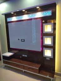 brown wall mount led tv panel designer
