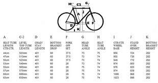 Fixie Bike Frame Size Chart