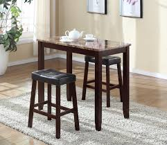 dining room set glossy black granite amazoncom roundhill furniture  piece counter height glossy print marbl
