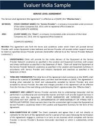 help desk service level agreement template service level agreement sample format in india
