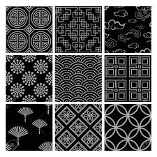 Chinese Designs Chinese Pattern Set With Traditional Designs