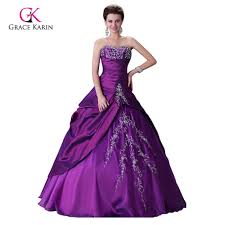 purple wedding dress grace karin cheap ball gown vestido de noiva