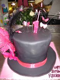 Top Hat Cake Designs 3d Black Top Hat Shaped Cake Decorated With Pink Fabric Ri