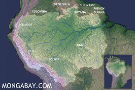 amazon rainforest.  Rainforest Map Of The Amazon River Basin For Rainforest A