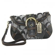 Coach Buckle In Monogram Medium Grey Wristlets DYZ