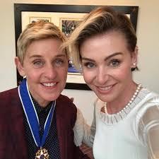 Ellen And Portia Cute Portia De Rossi And Ellen Degeneres Pictures Popsugar Celebrity