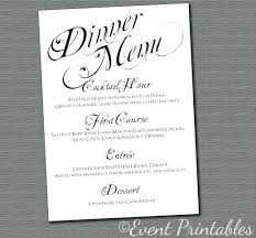 Wedding Reception Menu Cards Librarianinlawland Com