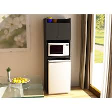 Microwave Furniture Cabinet Refrigerator Storage Black Stipple Walmartcom
