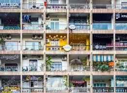 Saigon Ho Chi Minh City Vietnam January 2017 Apartment Building