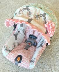 custom infant car seat covers cover 4 set baby deer girl pink made