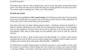 Resume Surprising Idea What Makes A Good Resume 7 Help Me Make