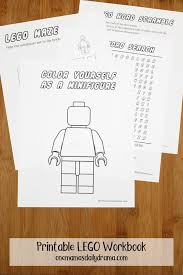 Show me the kid which do not like lego! Printable Lego Workbook Kids Coloring And Activity Sheets