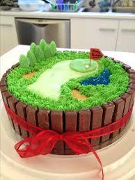 Mini Golf Birthday Cake Ideas Golf Cake Bordered With Kit Love This