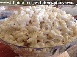 filipino macaroni en salad lutong