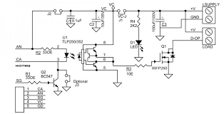 dc output solid state relay electronics lab schematic